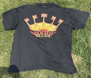 The Moody Blues Vintage 1991 Single Stitched Crown Black T-Shirt Size XL
