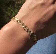 "18k Yellow Gold Filigree Link Bracelet 7.5"""