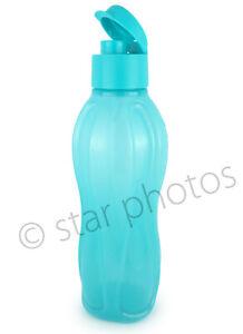 Tupperware Water Bottle Eco Medium - 25oz (750ml) in Sparkle Cyan Blue - NEW!