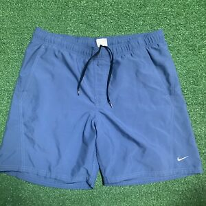 Vintage Nike Grey Tag Swim Trunks Shorts Size Medium Blue