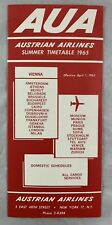Airline Timetable April 1 1965 AUA Austrian Airlines