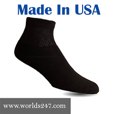 6 PAIR BLACK DIABETIC ANKLE SUMMER SOCKS SIZE 10-13 ( MADE IN USA )