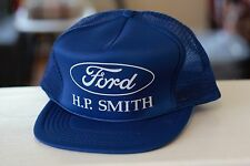 Rare Vtg Hp Smith Ford Blue Emblem Logo Mesh Trucker Snapback Hat Cap
