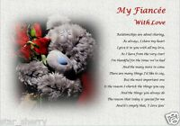 FIANCEE GIFT ( laminated gift) personalised poem WIFE TO BE