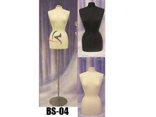 Female Hard foam Size 6-8 Mannequin Dress Form #F6/8W+Bs-04+ 1 Black Cover