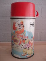 The Banana Splits Metal Lunchbox Thermos 1969 RARE