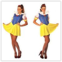 Womens Halloween Ladies Snow White Fairy Tale Fancy Dress Outfit Costume 8-14