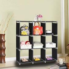 9-Cube Organizer Shelf Closet Cloth Bookcase Storage Modular Multifunctional