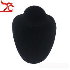 Black Mannequin Jewelry Display Horizontal Necklace Display Stand Wooden Velvet