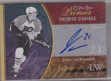 JAMES VAN RIEMSDYK 2009-10 OPC Premier Signings Gold Autograph RC #'d 03/15 Auto