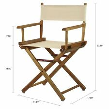 "Casual Home 18"" Director's Chair Natural Frame with Wheat Canvas Classic Style"