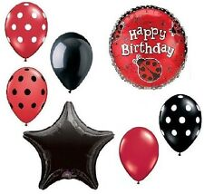 LADYBUG Lady Bug Polka Dots 7 Pc Birthday Party Mylar & Latex Balloons Set