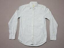 SEVEN FOR ALL MANKIND MENS BLUE & WHITE L/S STRIPED BUTTON UP SHIRT SMALL NEW