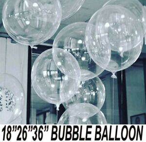 "Round Bubble ballon Transparent 18""/26""/36"" Big birthday Ballons Any Occasion UK"