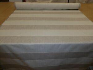 Designer Linen Upholstery Fabric (JOHN LEWIS - BRAMPTON JUMBO STRIPE STEEL)