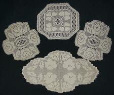 Lot of 4 Crocheted Doilies in Ivory Cotton Colour KC496