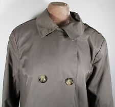 Vintage Womens 90s Dark Green Rain Coat LARGE / XL Size 20 (44-46) Dbl Breasted