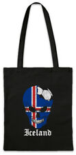 Iceland Football Skull I Shopper Shopping Bag icelandic Soccer Flag