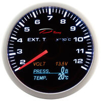 D racing 4in1 Temperatura Dei Gas di Scarico Strumentazione Olio Pressione Volt