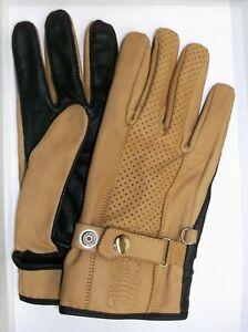 Rinderleder Handschuhe Retro Reithandschuhe Autohandschuhe Arbeit zweifarbig