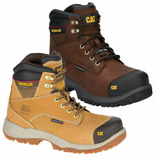 Caterpillar Spiro S3 SRC Waterproof Steel Toe Safety Boot - Brown or Honey