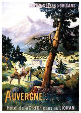 Affiche chemin de fer Orléans - Auvergne Lioran