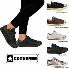 Converse 100% Leather Lace Up Trainers for Women