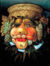 Giuseppe Arcimboldo Vaso Reversible Painting Veganism Fine Art Real Canvas Print