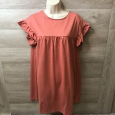 Asos Maternity Womens Size 6 Rust Flutter Sleeve Tunic Top NEW
