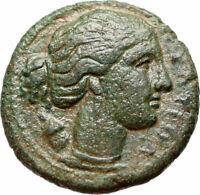 Syracuse Sicily 304BC Agathocles Tyrant Rare Ancient Greek Coin Artemis i46646