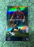 Panini WCCF FootistaVer Andriy Shevchenko EMVP AC Milan Ukraine Refractor card