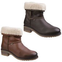 Cotswold Bampton Ankle Boot Ladies Waterproof Leather Slip On Casual Hi Tops