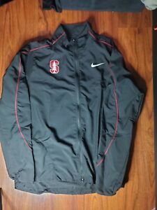 Stanford Cardinal NCAA Windbreaker Nike Men's Jacket Full Zip-up Black size M