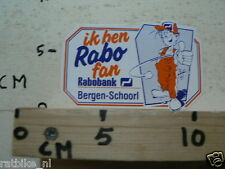 STICKER,DECAL IK BEN RABO FAN RABOBANK BERGEN - SCHOORL