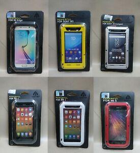 LOVE MEI Metal Armor Gorilla Glass Case Cover For Sony/Mi/Samsung Z5C/M5/4/5/S6E