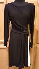 American Living/Ralph Lauren 5001 Black Stretch Jersey w/Cream Inset Dress, 12R