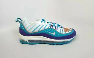 Nike Air Max 98 Hornets Purple Blue Brown Running Shoe 640744-500 Mens Size 8