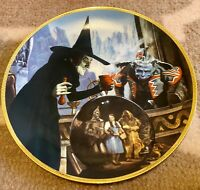THE WITCH CASTS A SPELL collector plate WIZARD OF OZ 50th Anniversary BLACKSHEAR