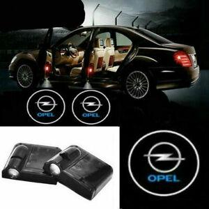 2Pcs WIRELESS LED For OPEL  Car Door Logo Courtesy Shadow Laser Lights
