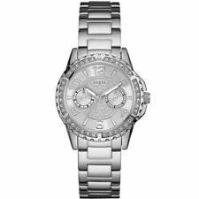 Guess Damenuhr Analog Quarz Uhr Edelstahl Armband Mineralglas Uhren & Schmuck