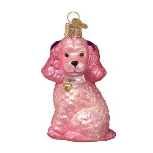 Poodles Glass Ornament