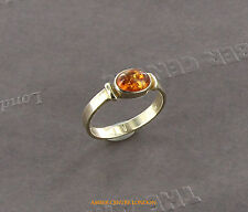 Italian Made Classic Elegant Baltic Amber Ring in 9ct Gold-GR0102 RRP£225!!!