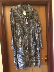 Ladies Cowl Neck, Slip On Casual Grey Dress