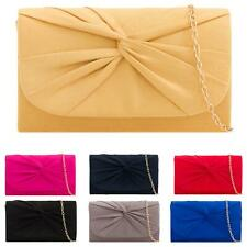 New Women's Occasion Stylish Bow Detail Mini Shoulder Chain Clutch Bag