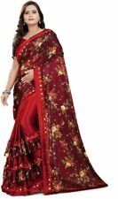 Indian Bollywood Designer Ethnic Saree Wedding Party Wear fancy Floral Saree SS