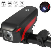 USB Rechargeable LED Bicycle Headlight MTB Road Bike Cycling Helmet Front Light