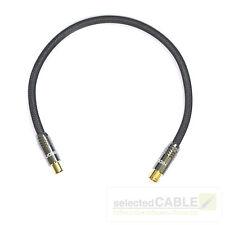 HDTV Antennen-Kabel 2m 5-fach geschirmt 135dB DVB-C Geflecht schwarz + HI-ANCM01
