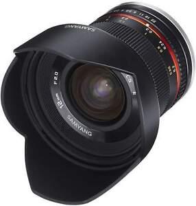 Samyang 12mm F2.0 NCS CS Fuji X Camera Lens - Black