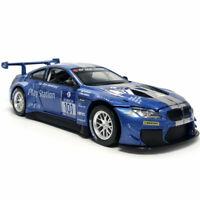 1:32 Scale BMW M6 GT3 Model Car Diecast Toy Vehicle Sound & Light Blue Kids Gift