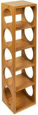 Bamboo Wine Rack Bottle Holder Freestanding Wooden Shelf Wine Rack for 5 Bottles